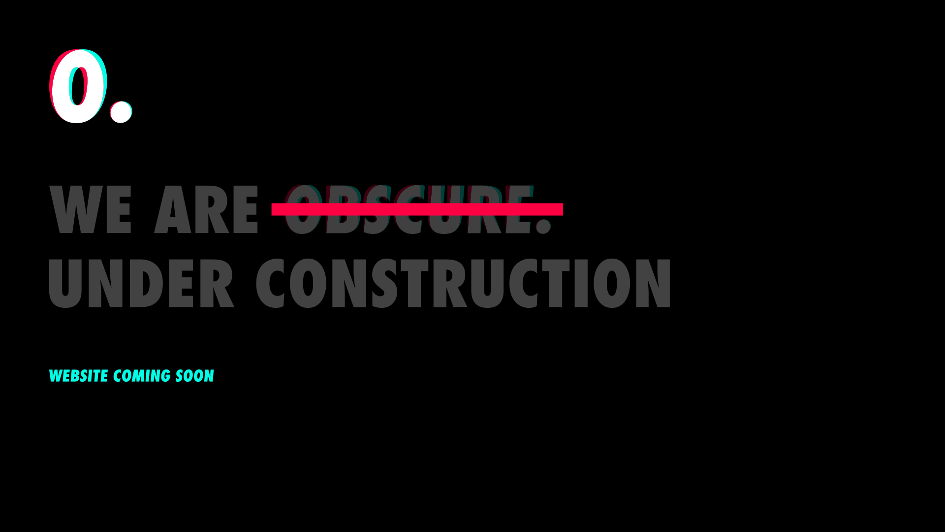 We are under construction